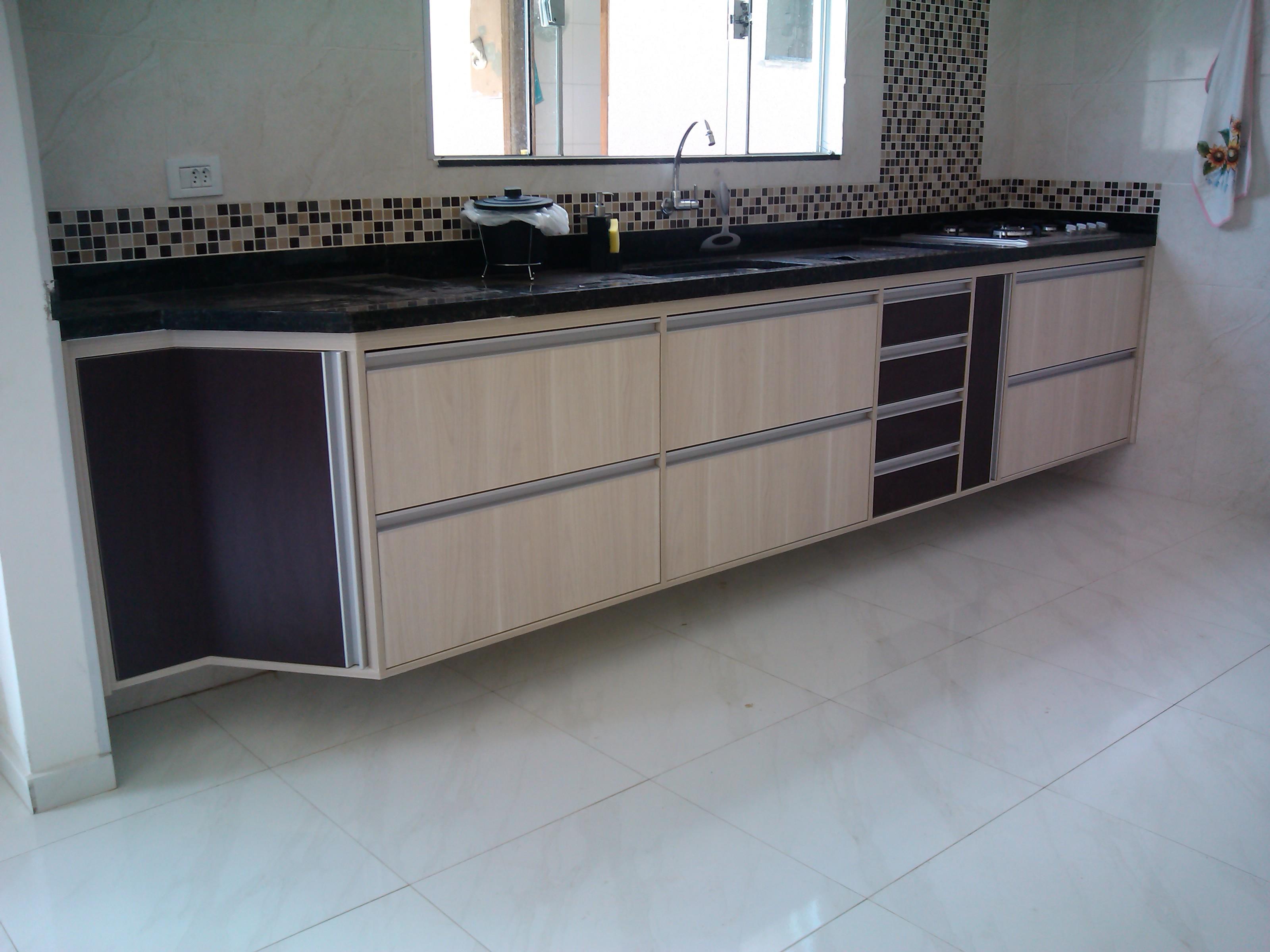 Armario De Cozinha Planejado Com Porta Vidro Armario De Cozinha  #50687B 3200 2400